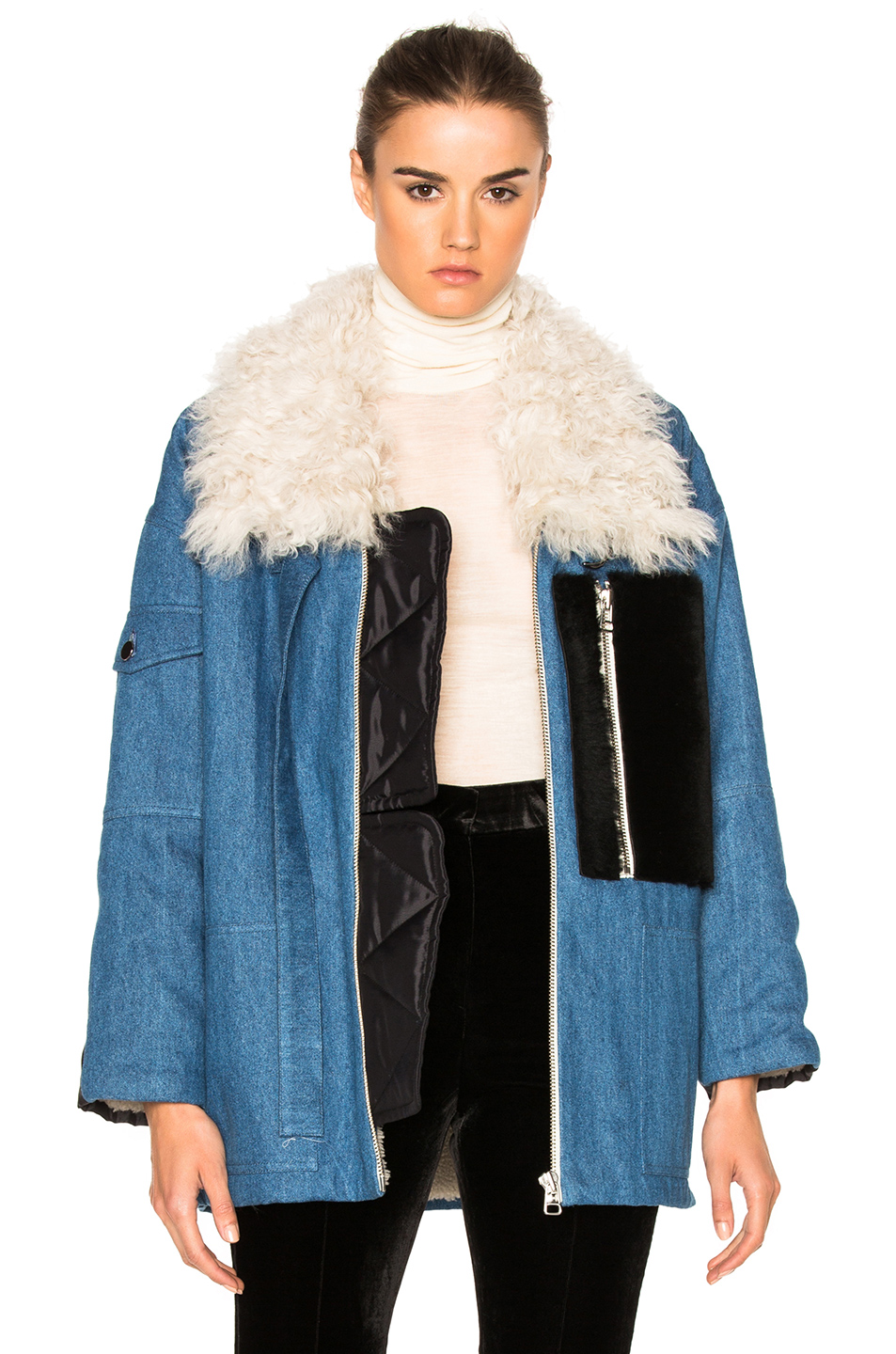 Sandy Liang Citroen Coat in Blue