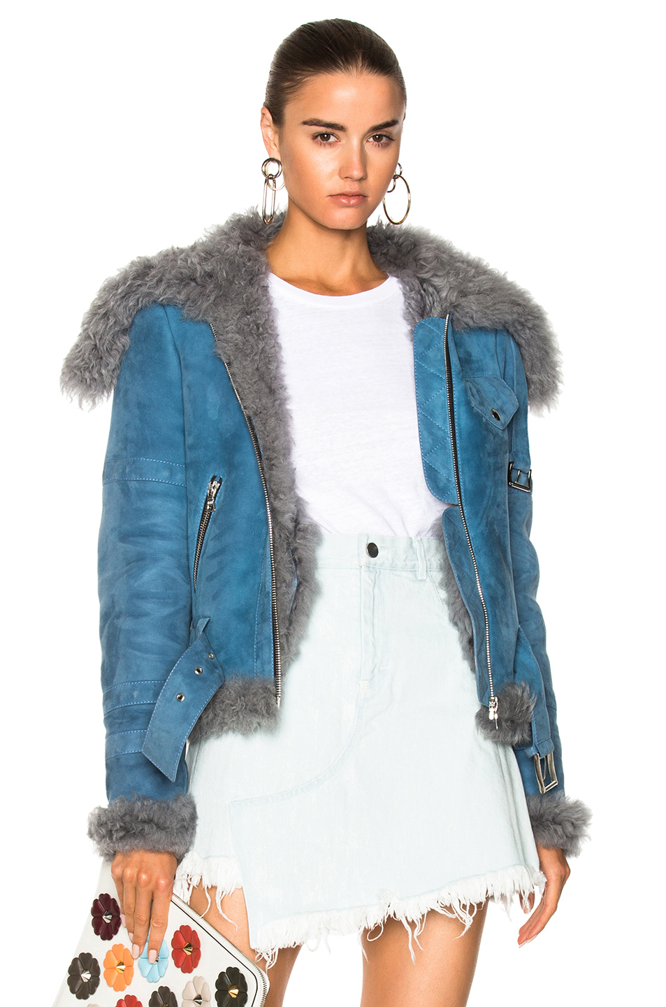 Sandy Liang Skyla Jacket in Blue,Gray