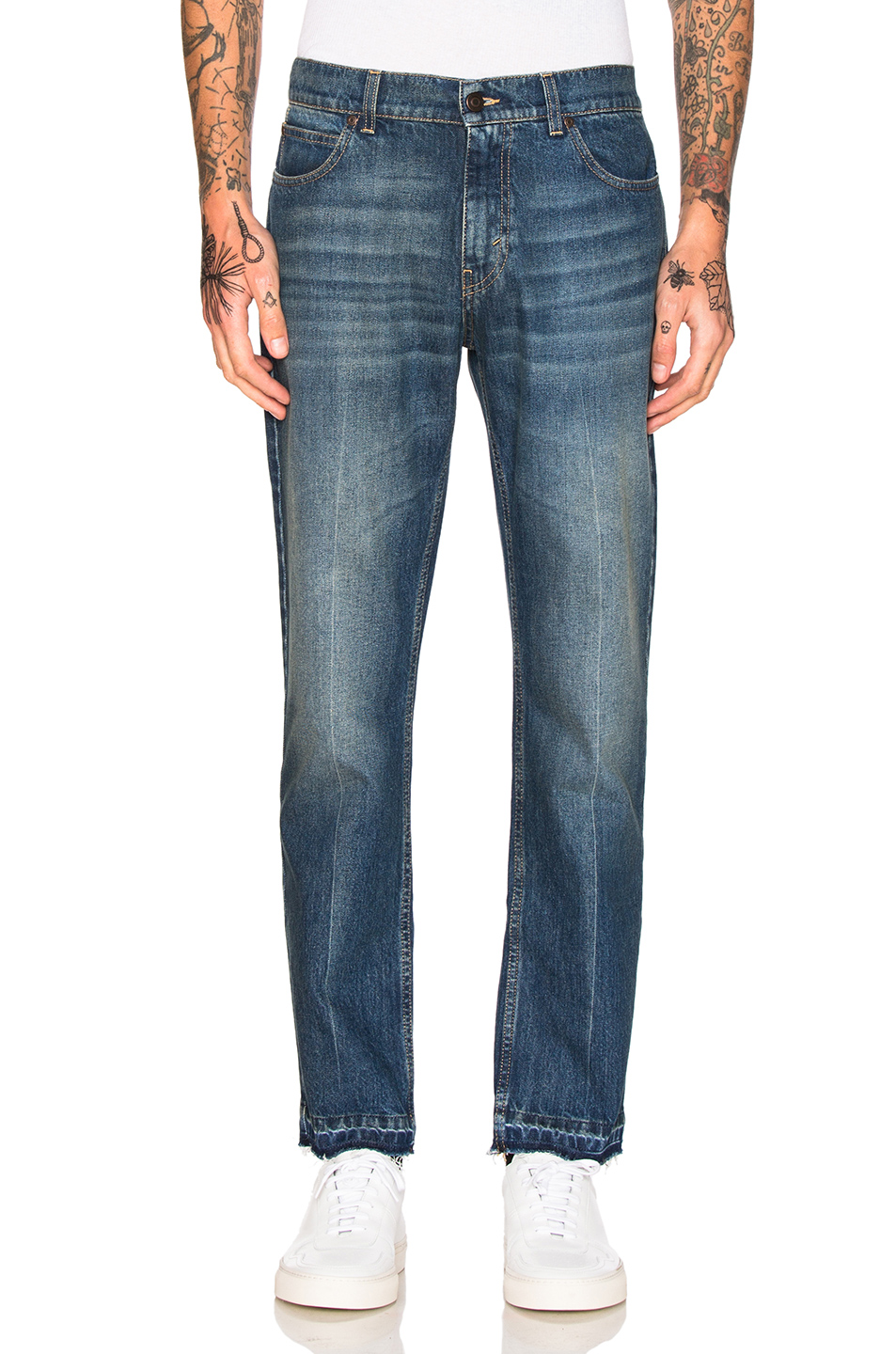 Photo of Stella McCartneyDenim Trousers in Blue - shop Stella McCartney menswear