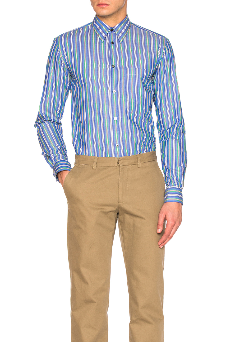Stella McCartneyLong Sleeve Striped Shirt in Blue,Stripes