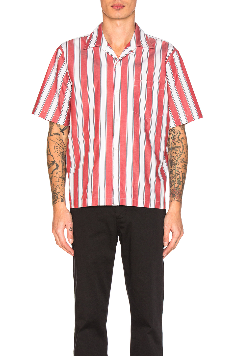 Stella McCartneyStriped Shirt in Red,Stripes