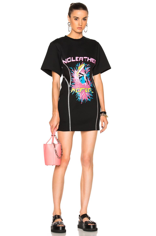Stella McCartneyNo Leather Surf Print Dress in Black