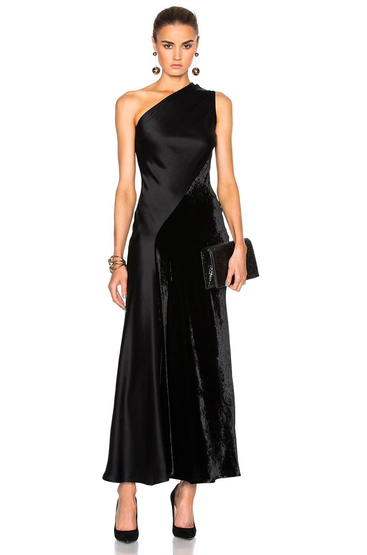 Stella McCartneyDouble Satin Dress in Black