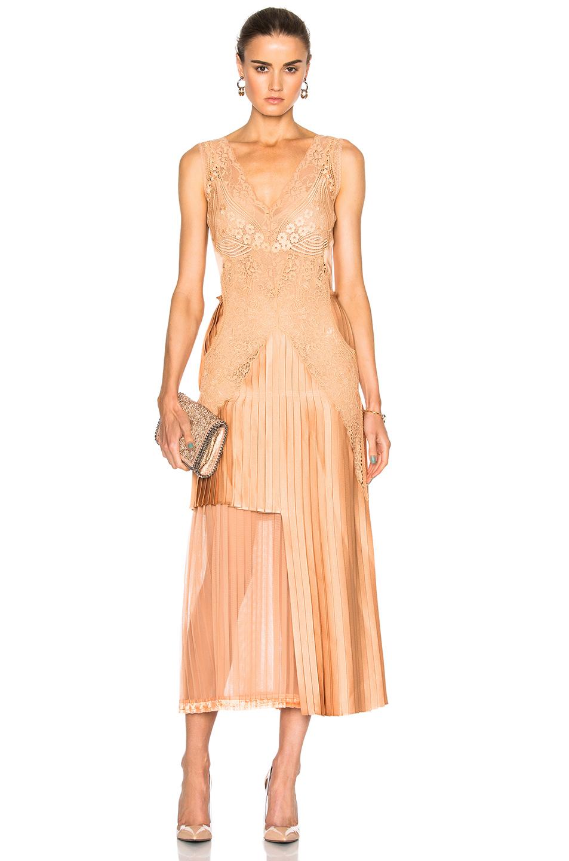Stella McCartneySable Satin Dress in Pink