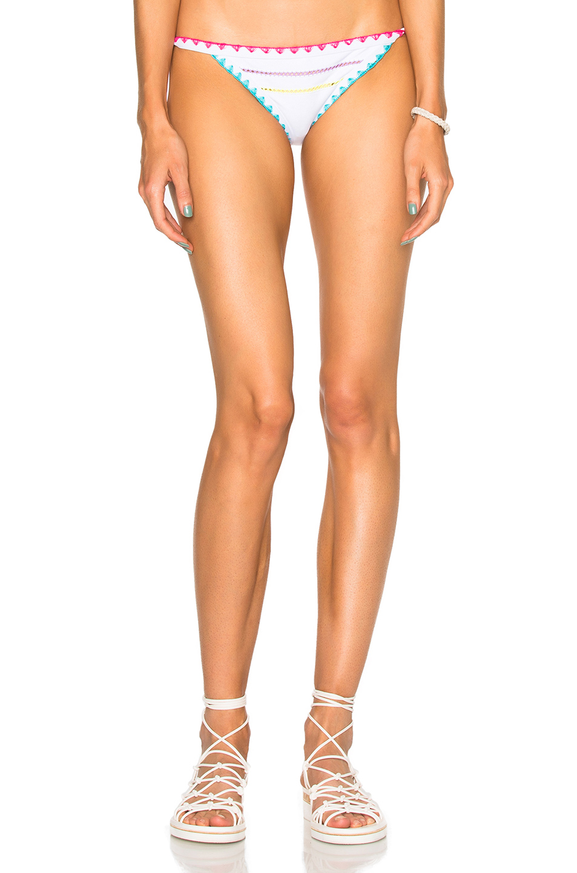 Same Swim Tease Tie Side Bikini Bottom in White