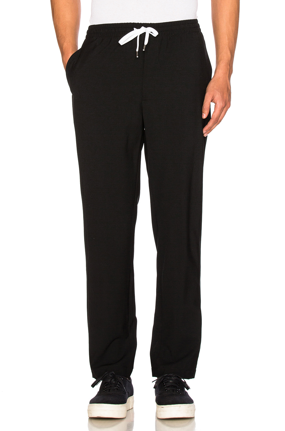Second/Layer Elastic Waist Trousers in Black