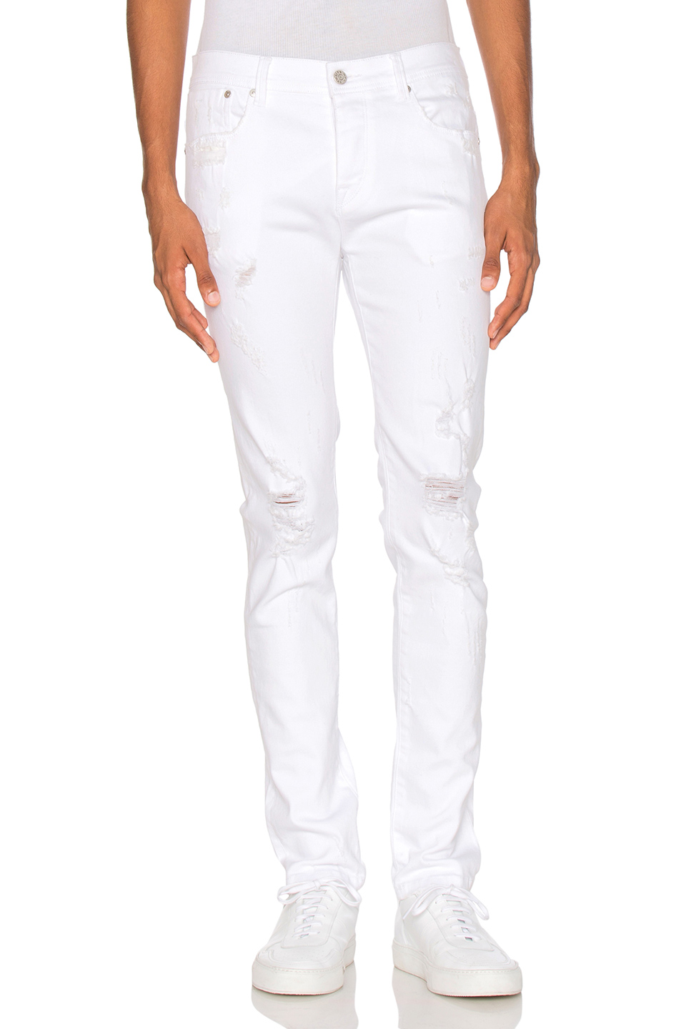 Stampd Distressed Skinny in White