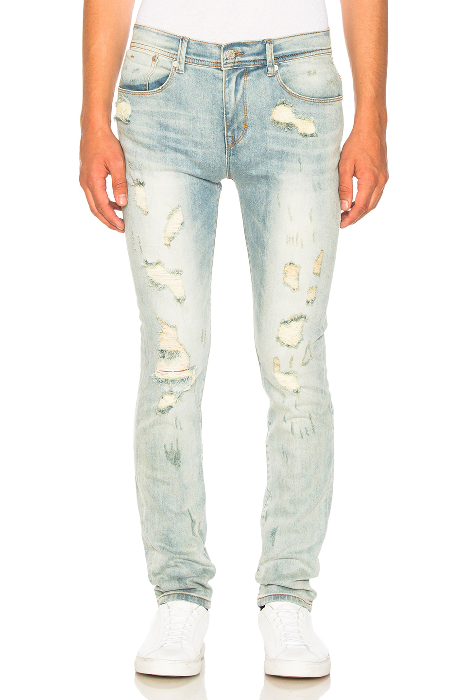 Stampd Distressed Skinny in Blue
