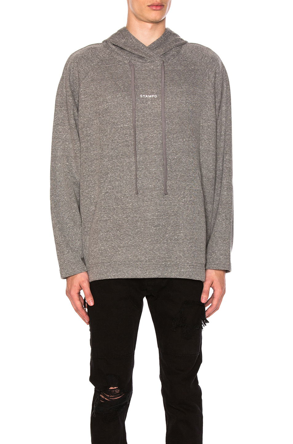 Stampd Terry Raglan Sweater in Gray