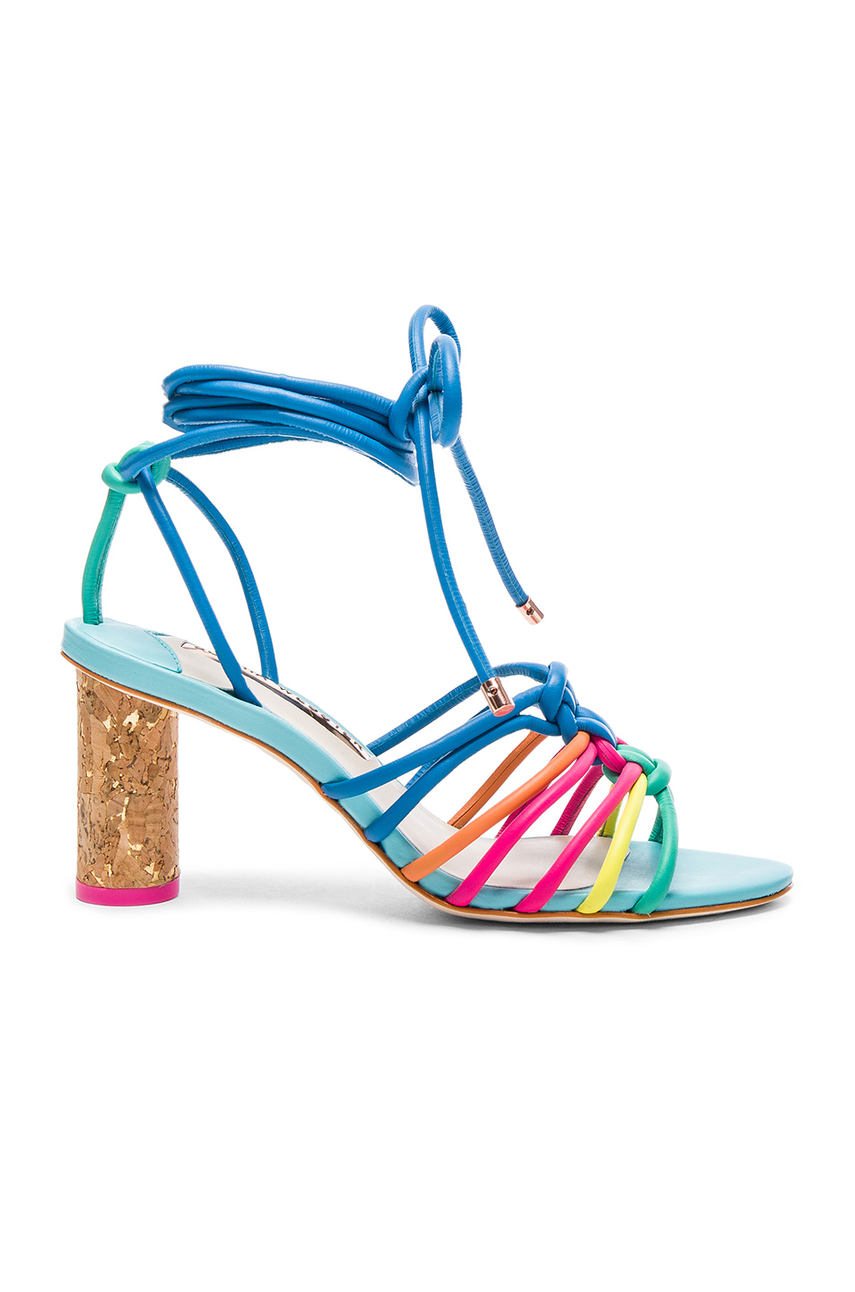 Sophia Webster Leather Copacabana Mid Sandals in Blue,Green,Pink
