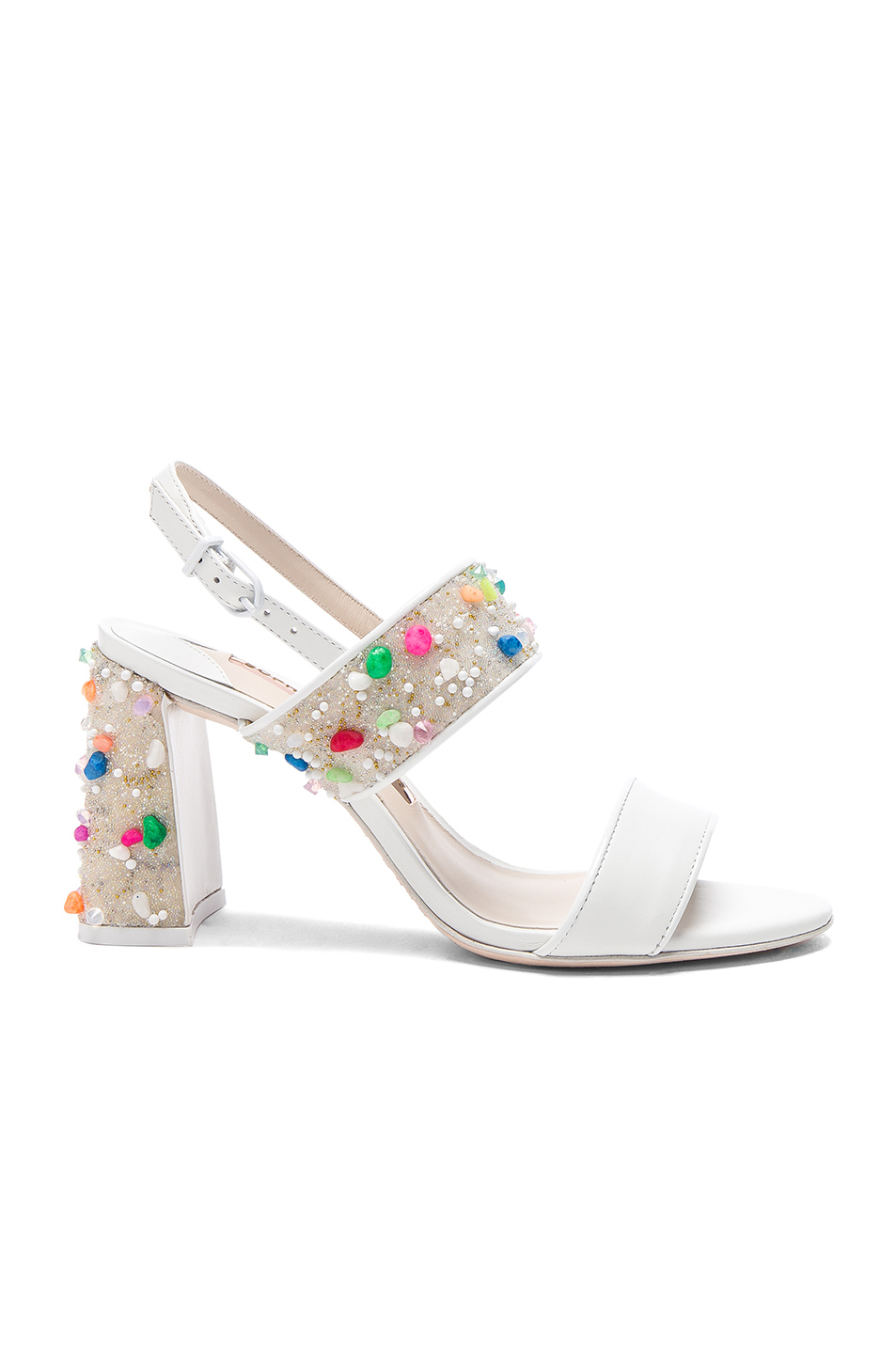 Sophia Webster Leather Clarice Mid Sandals in White