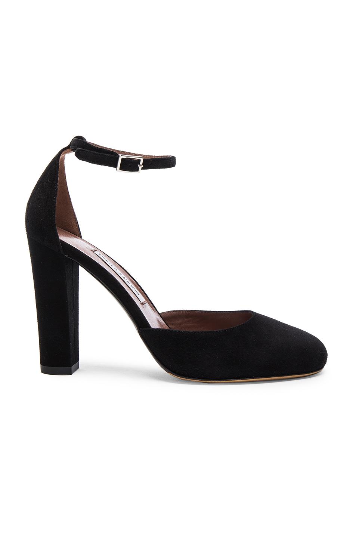 Tabitha Simmons Suede Petra Heels in Black
