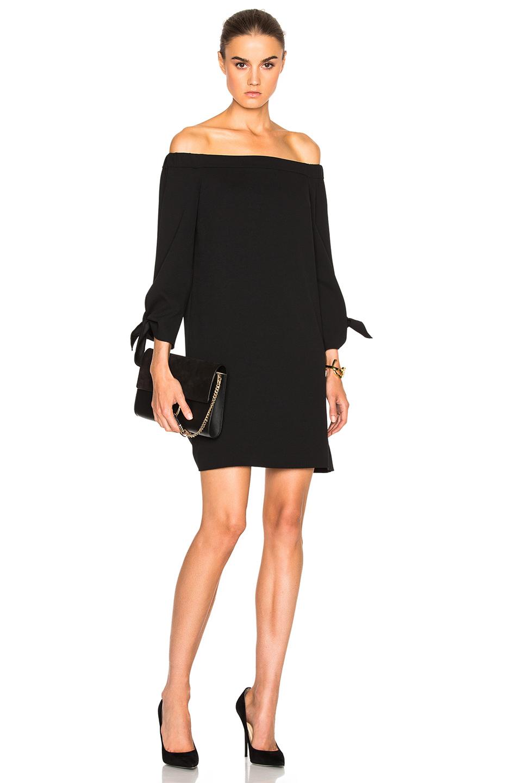 Tibi Off The Shoulder Dress in Black