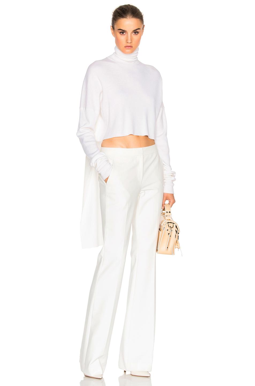 Tibi Open Back Sweater in White