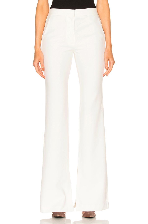 Tibi Flare Pants in White