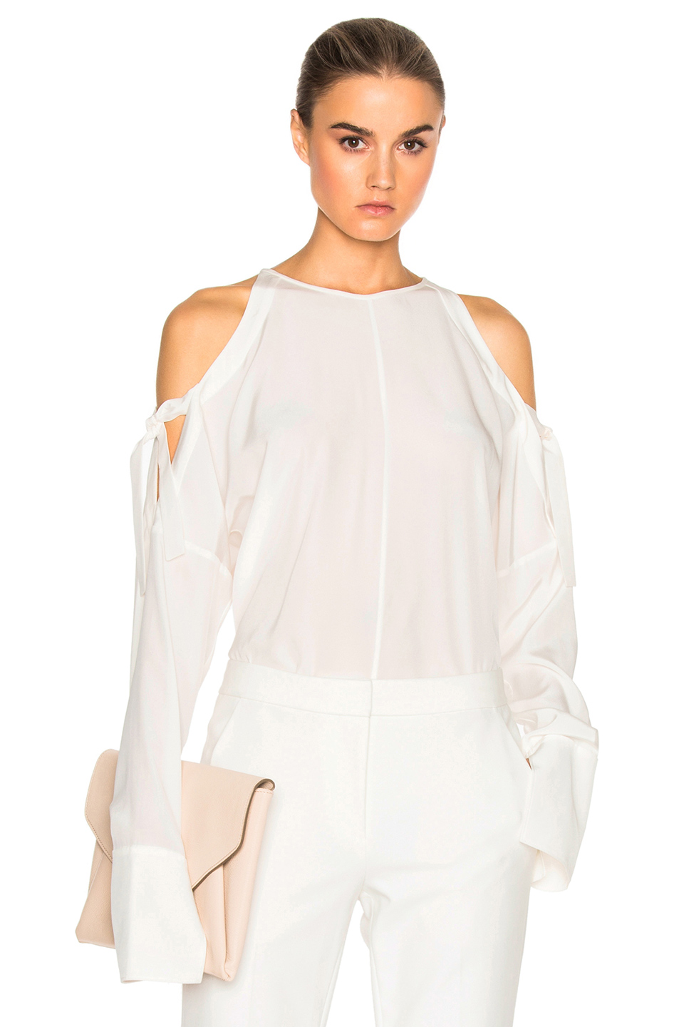 Tibi Cut Out Top in White