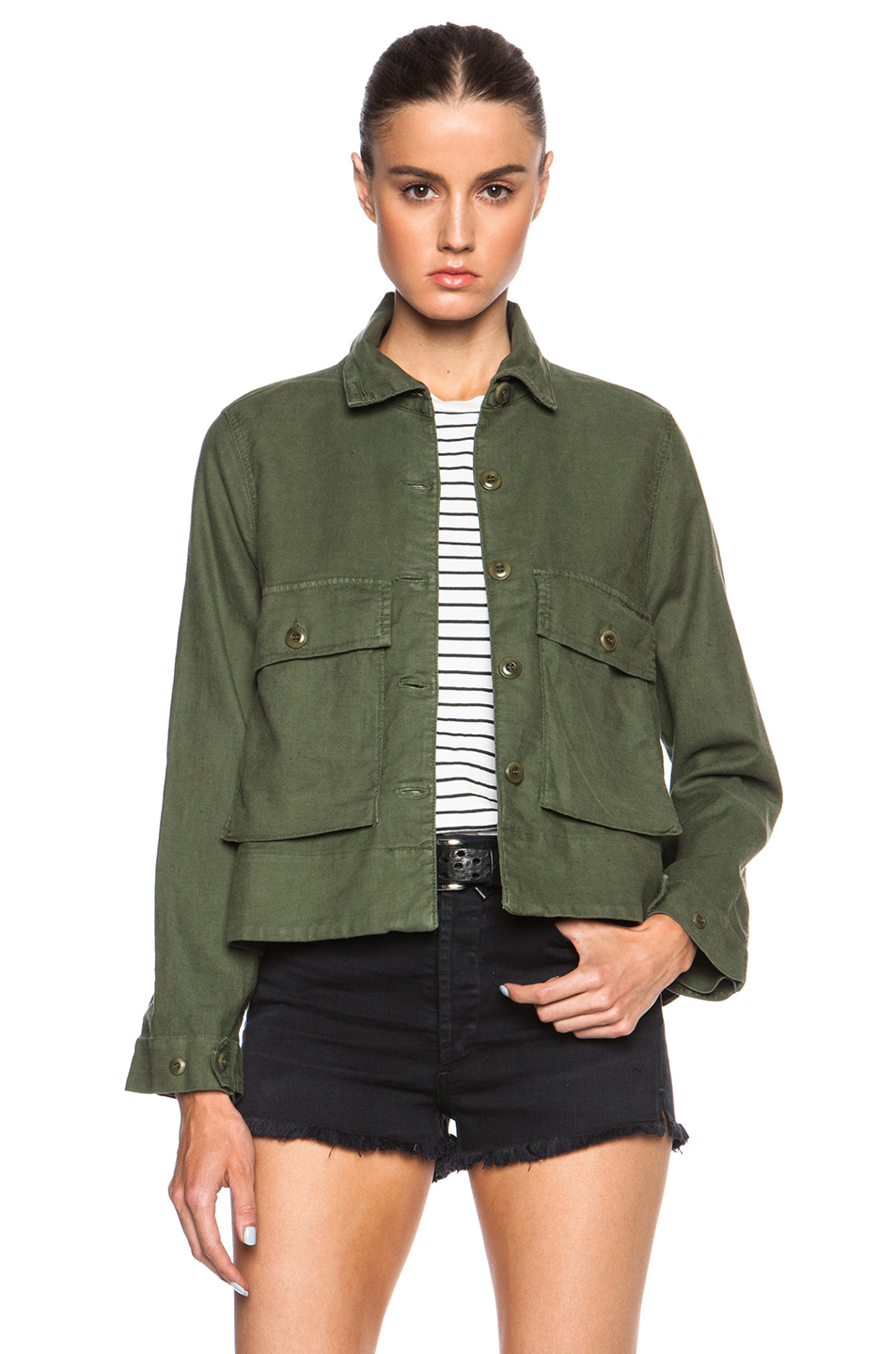 The Great Swingy Army Jacket in Green