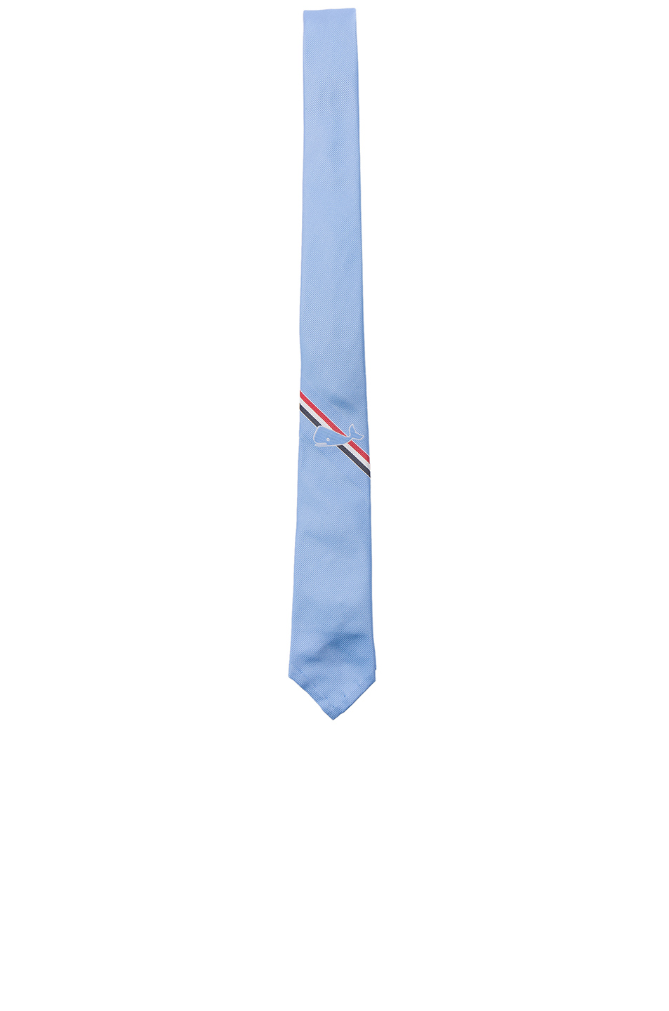 Thom Browne Classic Whale Tie in Blue