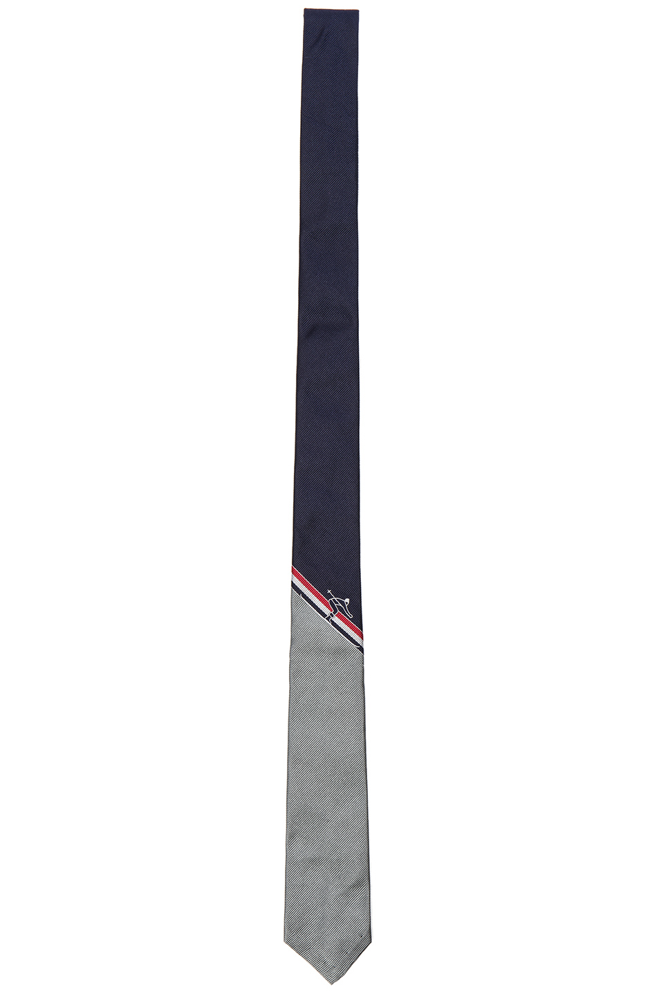 Thom Browne Classic Skier Engineered Stripe Tie in Blue