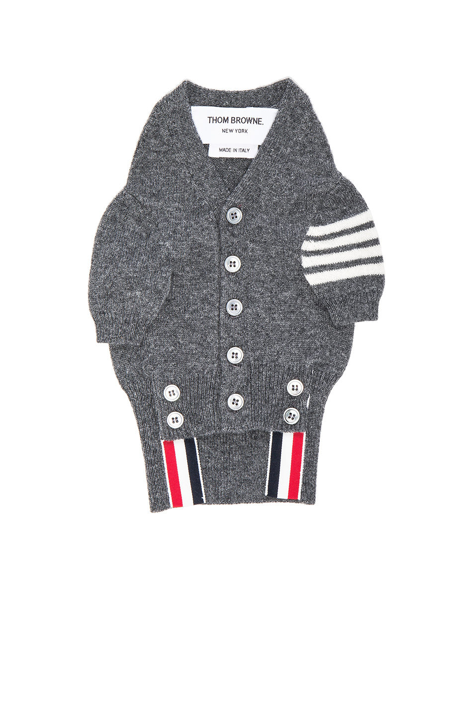 Thom Browne Cashmere Canine Cardigan in Gray