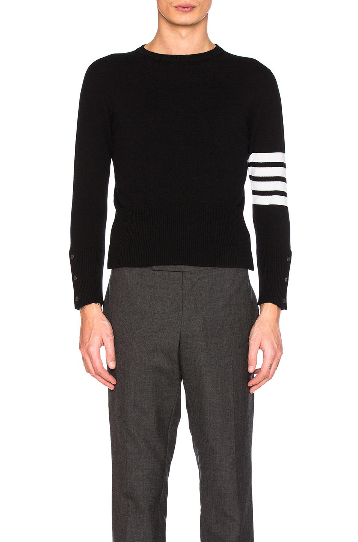 Thom Browne Classic Cashmere Pullover in Black
