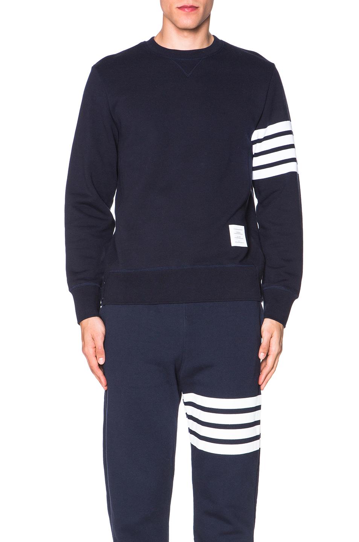 Thom Browne Classic Sweatshirt in Blue