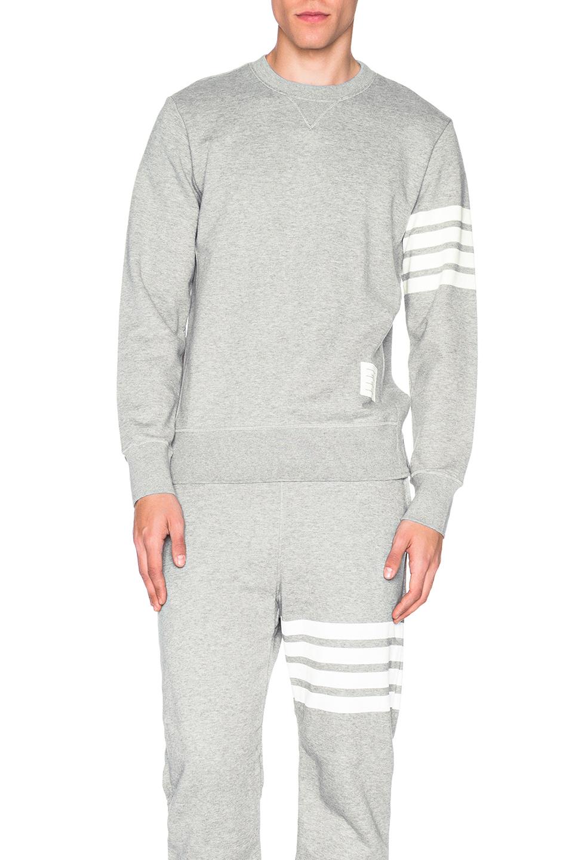 Thom Browne Classic Sweatshirt in Gray