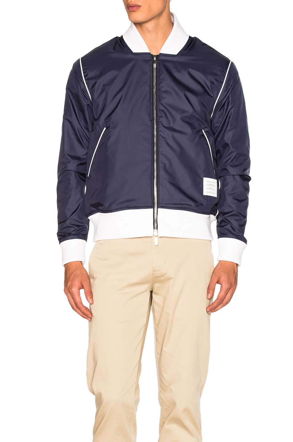 Thom Browne Double Sided Bomber Jacket in Blue
