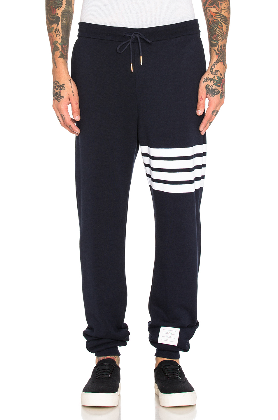 Thom Browne Cotton Sweatpants in Blue