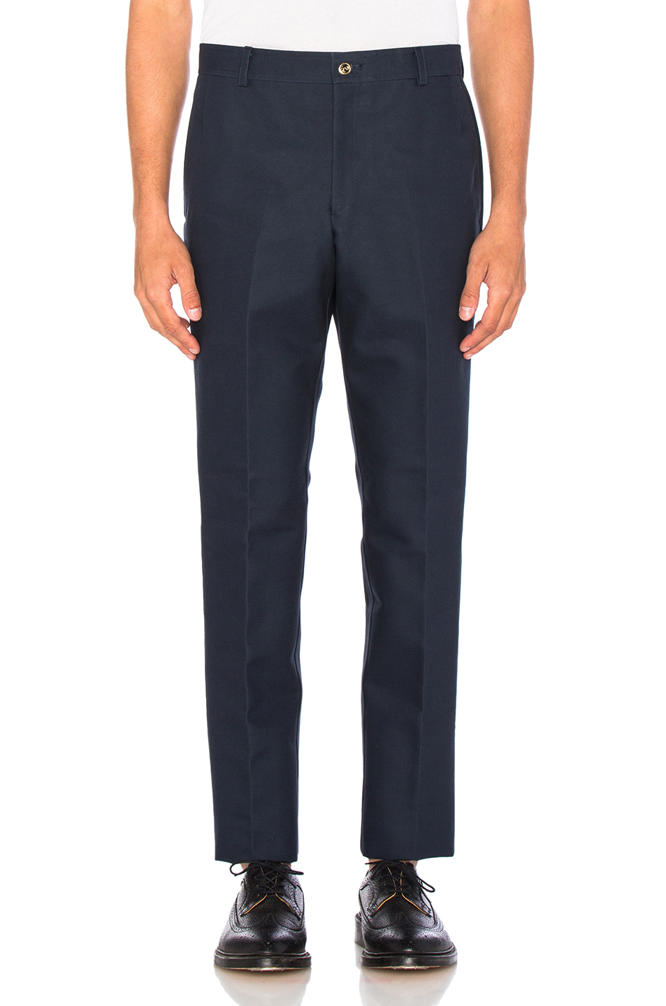 Thom Browne Unconstructed Chino Pants in Blue