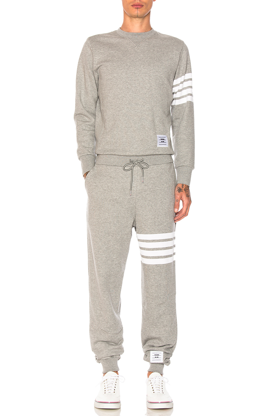 Thom Browne Trompe L'Oeil Sweatsuit in Gray