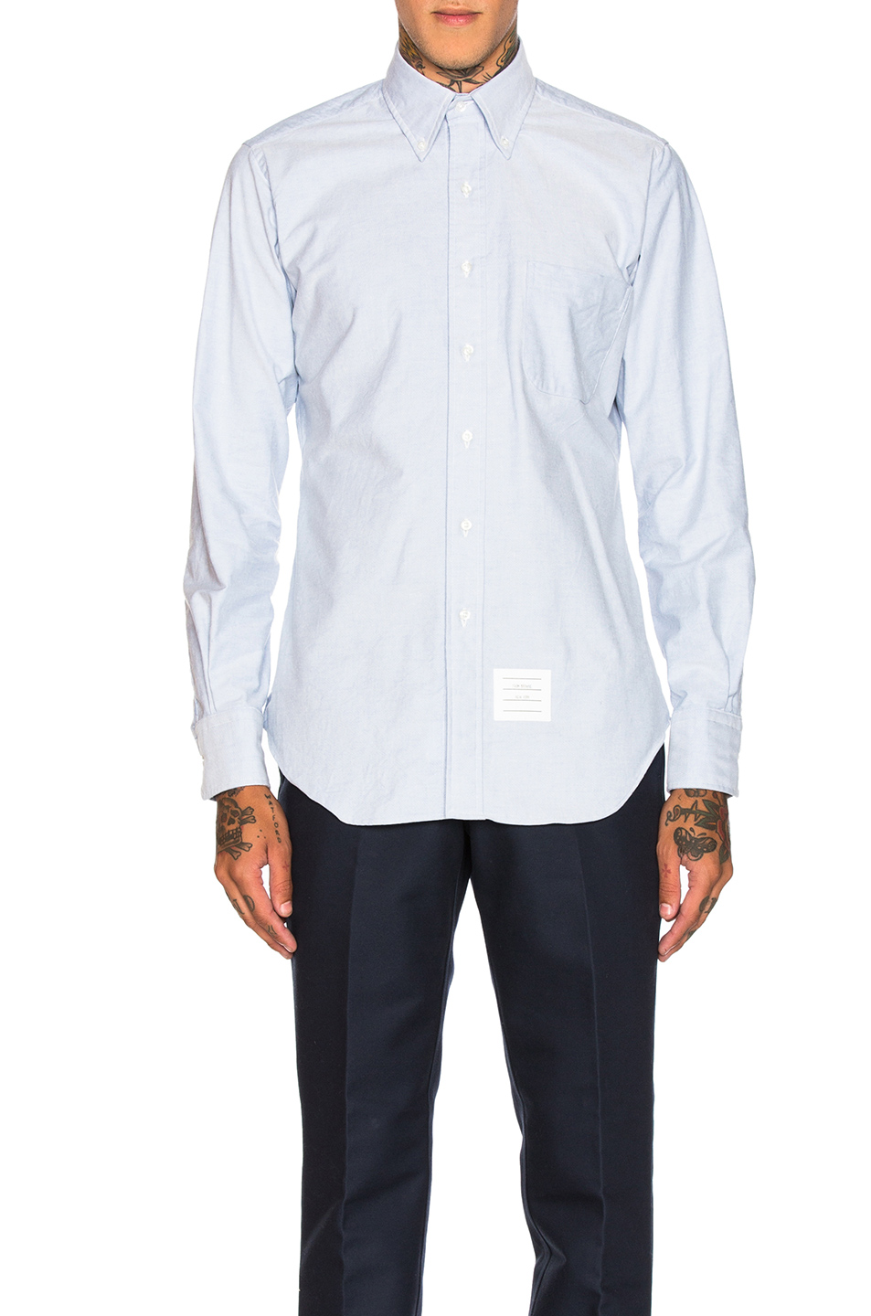 Thom Browne Classic Oxford Shirt in Blue