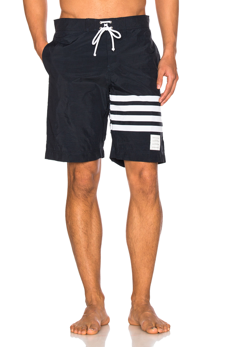 Thom Browne Board Shorts in Blue,Stripes