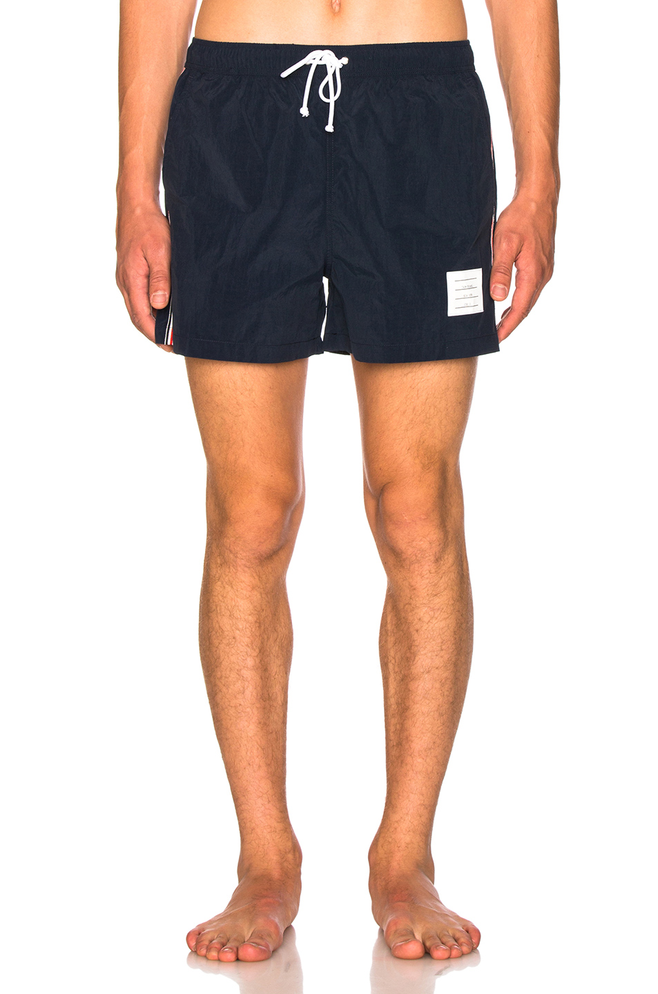Thom Browne Classic Brushed Finish Swim Trunk in Blue