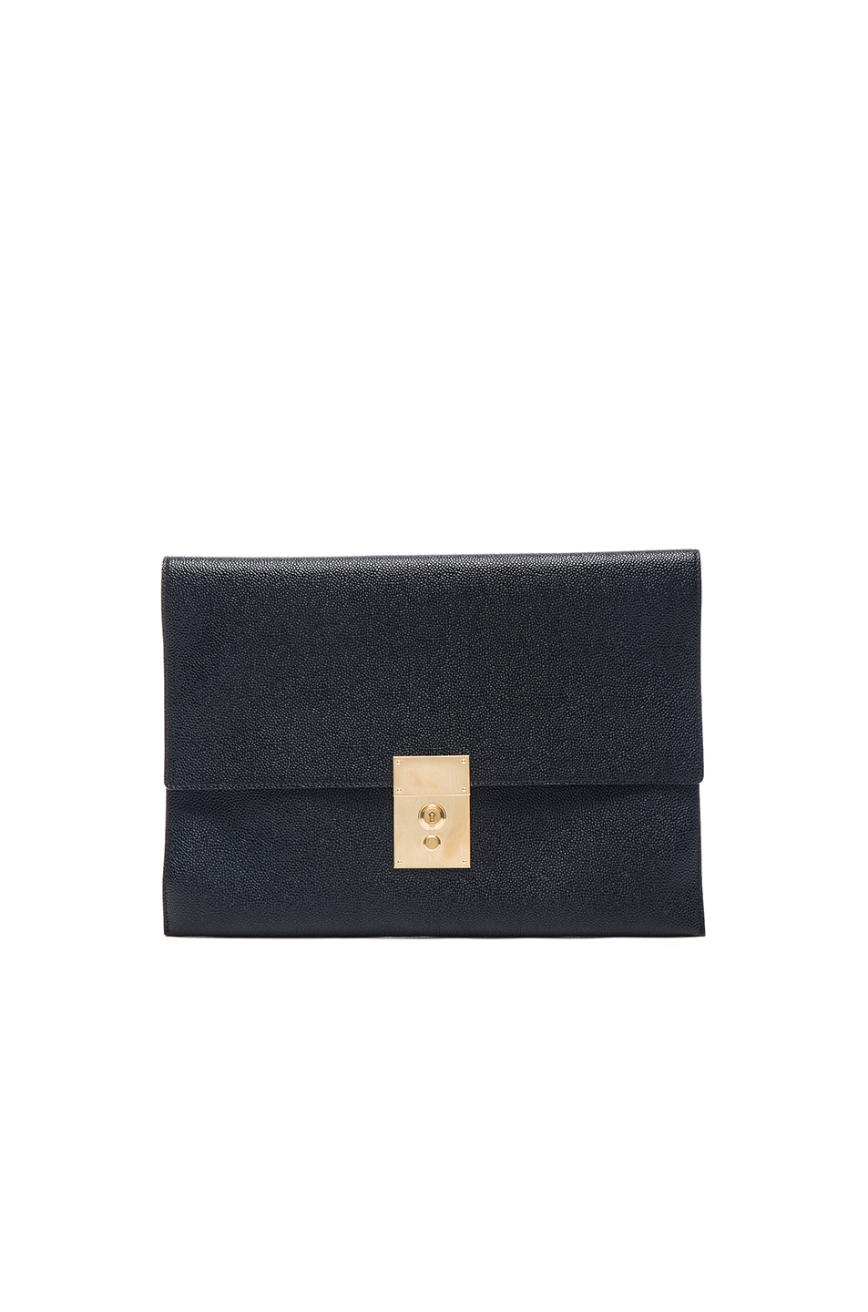 Thom Browne Lock Document Wallet in Black