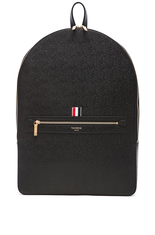 Thom Browne Pebble Grain Backpack in Black