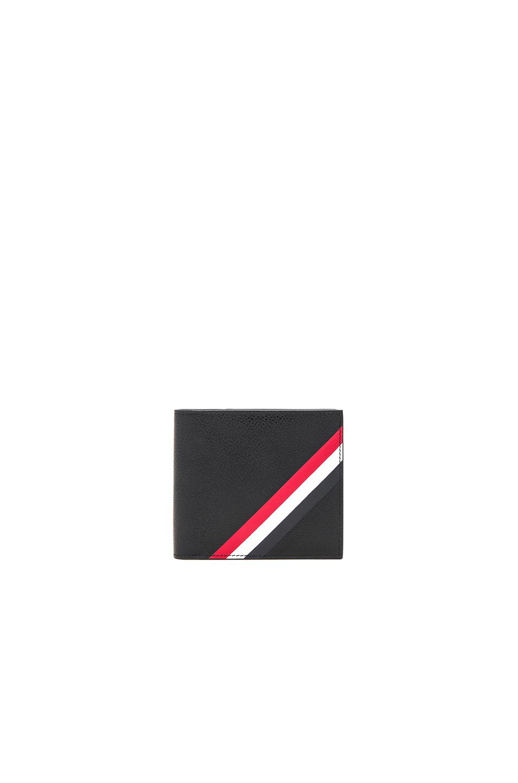 Thom Browne Diagonal Stripe Wallet in Black