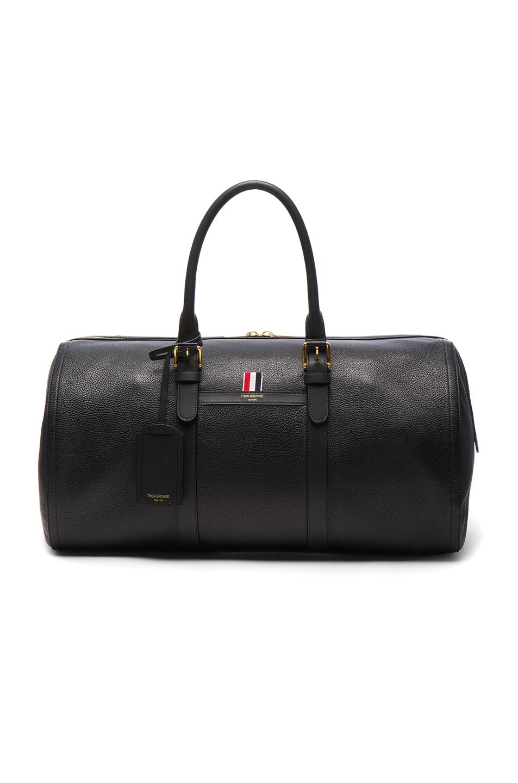 Thom Browne Deerskin Duffle Bag in Black