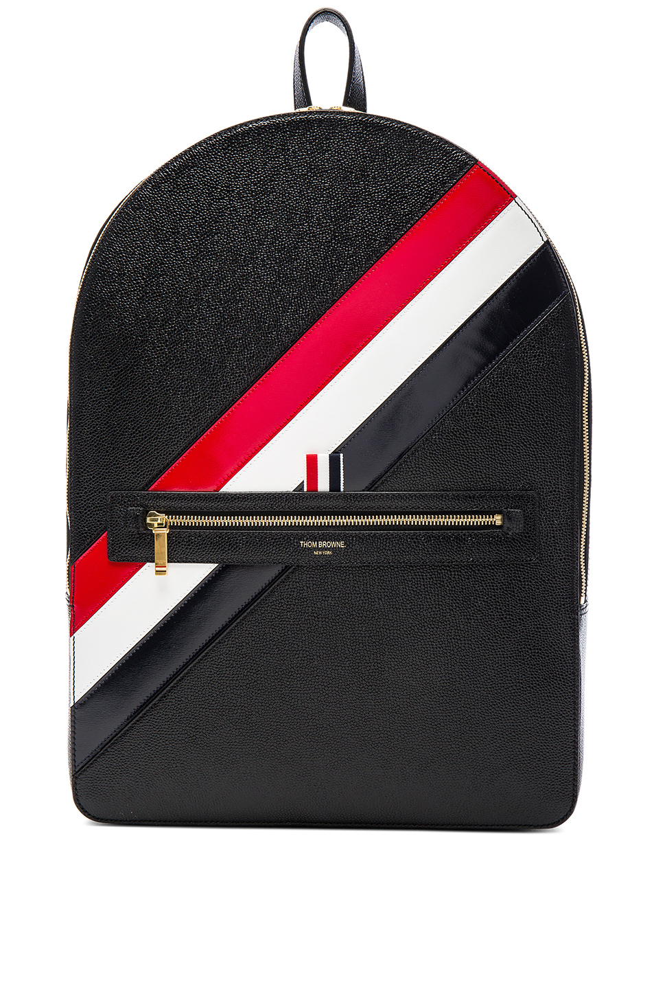 Thom Browne Diagonal Stripe Backpack in Black