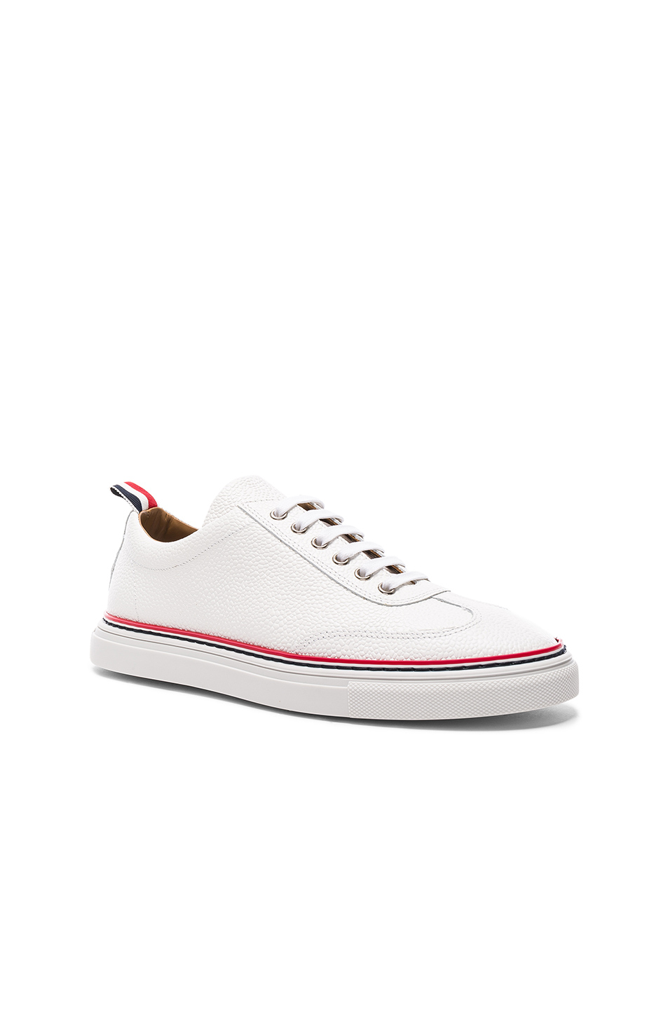 Thom Browne Pebble Grain Trainers in White