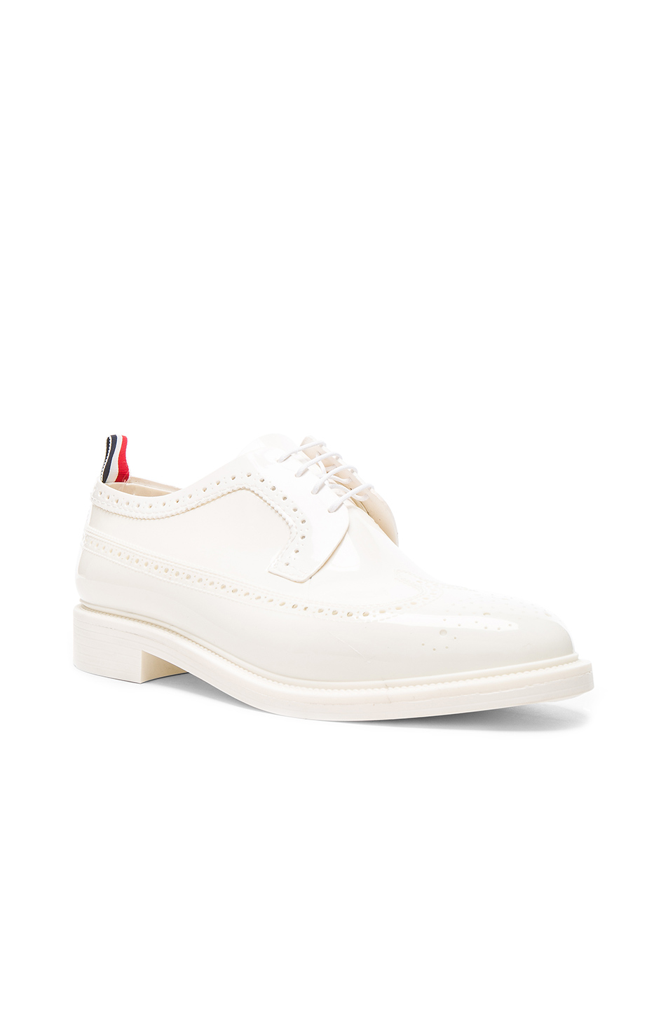 Thom Browne Rubber Brogues in White
