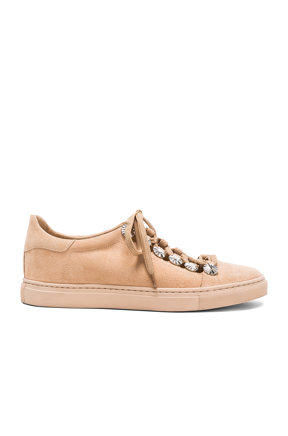 TOGA PULLA Studded Suede Sneakers in Neutrals