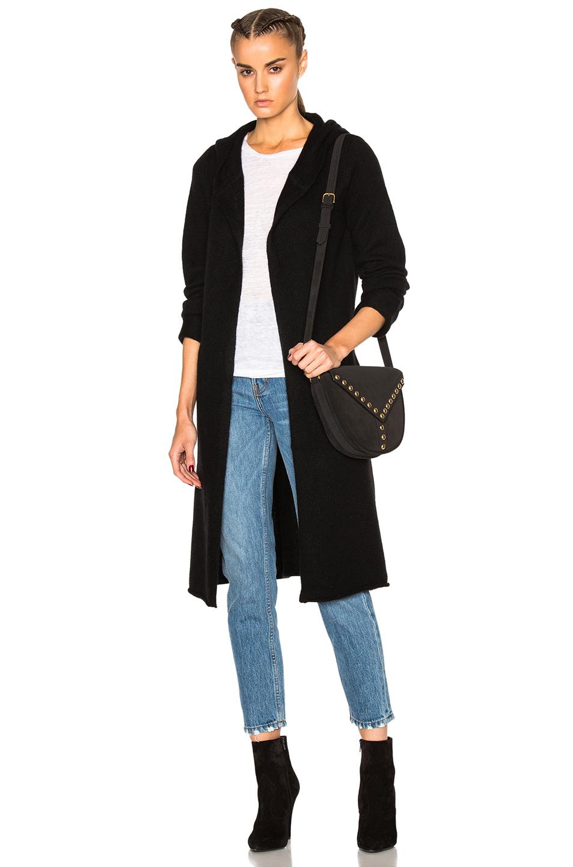 ThePerfext Blondie Long Tie Sweater in Black