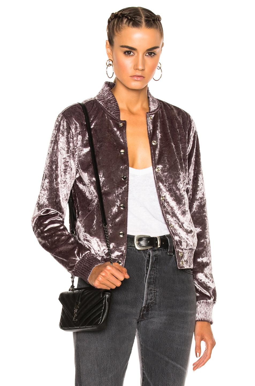 ThePerfext Ashley Bomber Jacket in Gray,Metallics