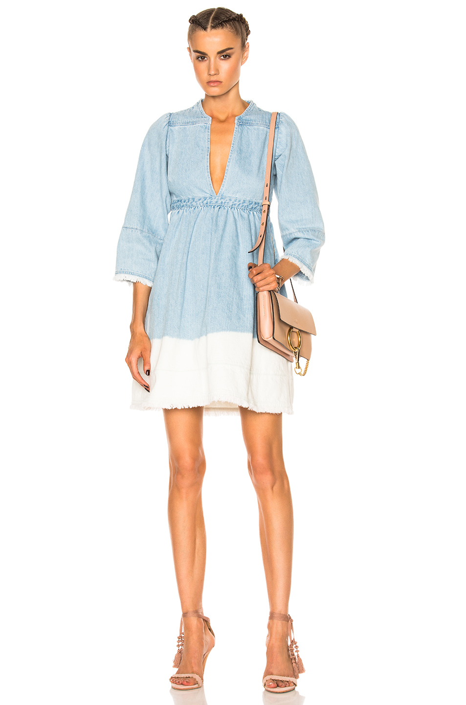 Ulla Johnson Alina Dress in Blue,White