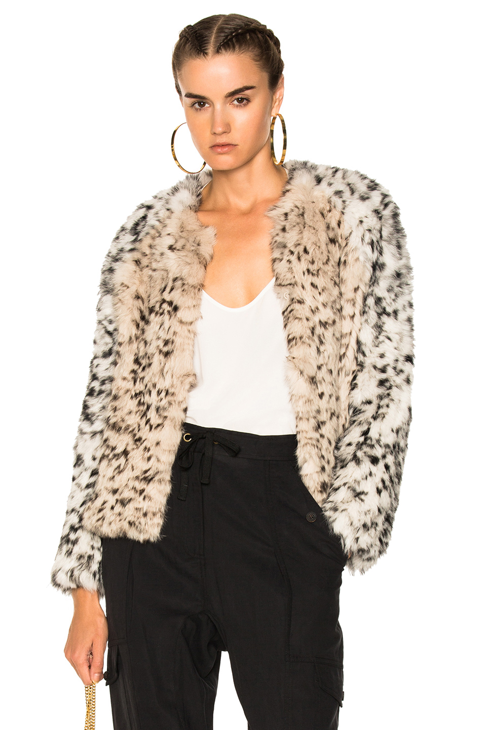 Ulla Johnson Iris Cardigan Jacket in Animal Print,Neutrals