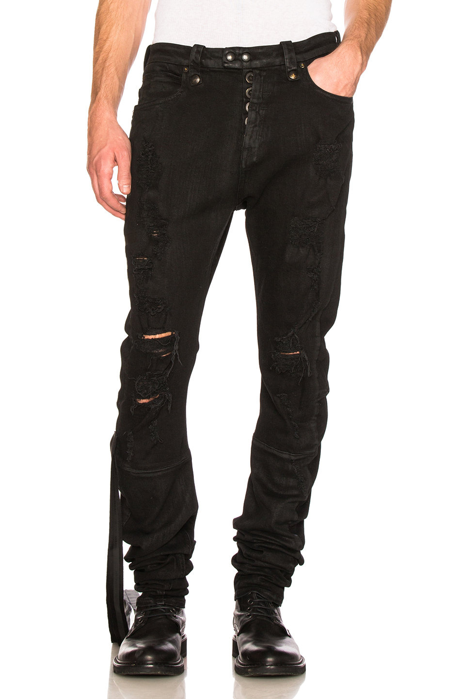 Unravel Stretch Denim Distorted 5 Pocket in Black