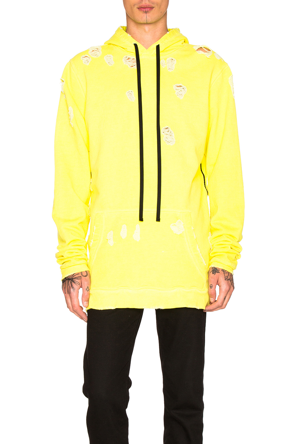 Unravel for FWRD Oversized Hoodie in Yellow,Neon