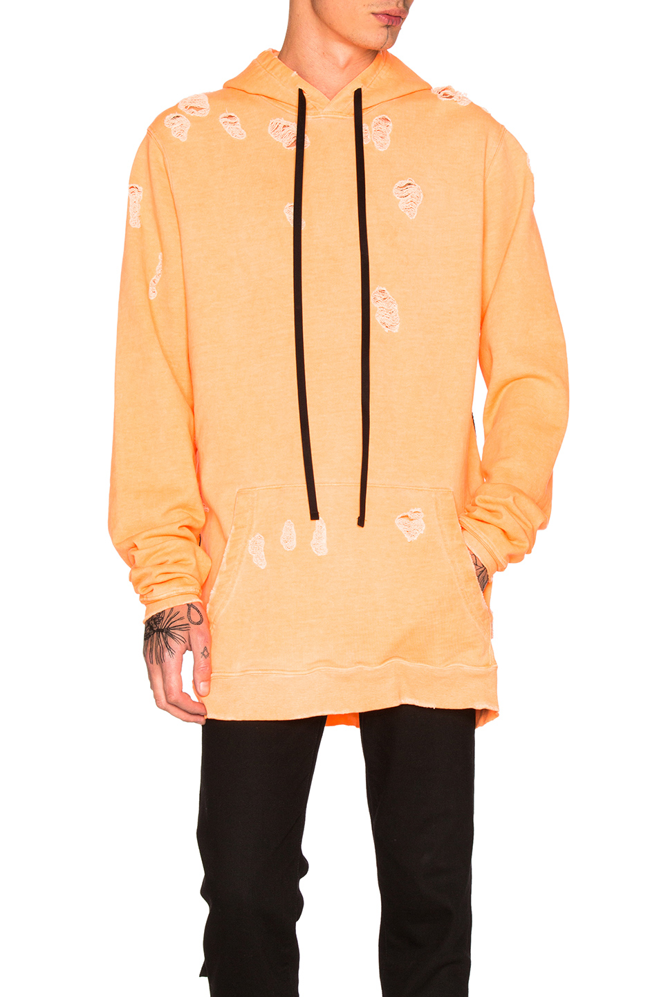 Unravel for FWRD Oversized Hoodie in Orange,Neon