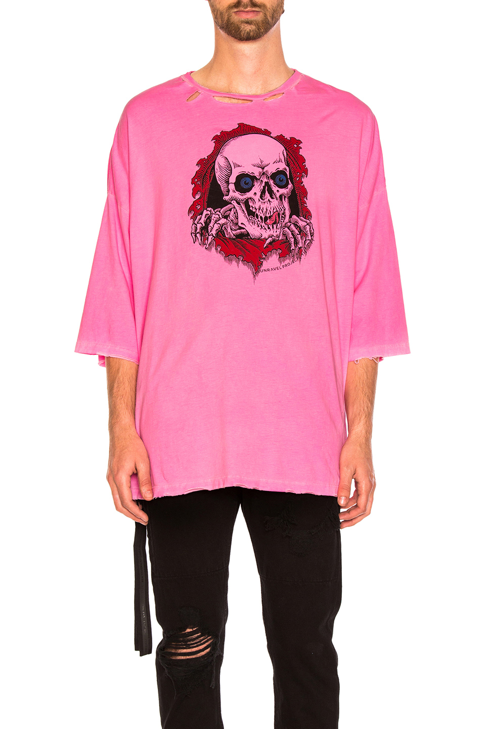 Unravel for FWRD Oversized Boxy Tee in Pink,Neon